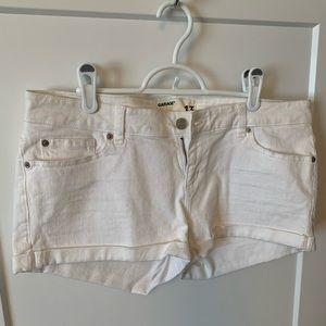 Brand new white jean shorts.